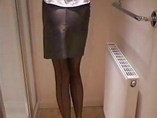 Best voyeur amateur girdle pics - Leather miniskirt girdle stockings