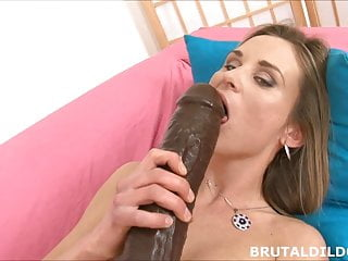 Masturbation giant tits - Busty blonde with giant dildo