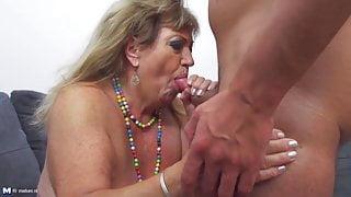 Bigtit granny and stepmom fuck fresh meat