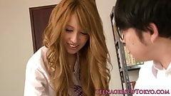 Japanese teen schoolgirl cumsprayed in class