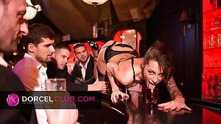 Striptease and intense sex with luxury escort Megan Rain