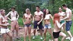 Hot teen orgy