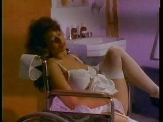 Wheeling sex shop Nurse plays in the wheel chaie