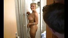 German Mature Has Anal Sex in the Shower