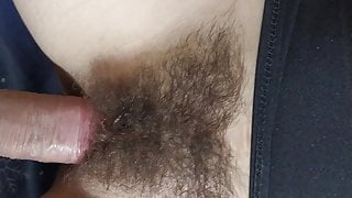 FUCKING MY WIFE'S SUPER HAIRY PUSSY