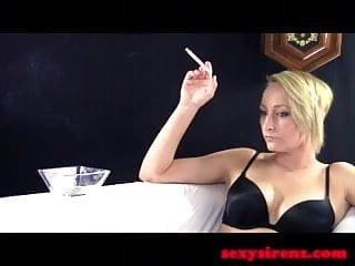Brown cigarette smoking fetish Smoking fetish - cirsten black lingerie cigarette