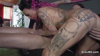 German big boobs Pornstar Kitty Core fucks with older men