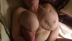 74 Year Old Granny with Large Breasts