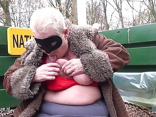 Shaved naturist males - Naughty mature naturist mom playing outside