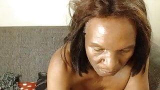 Slim Ebony Granny - part1