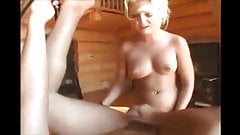 Blonde mistress turns her boyfriend into faggot