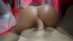 Sexy PAWG fucks her step   while parents are home