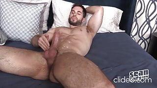 Hot sexy hairy athlete lad  Vincent strip jerk off & cum