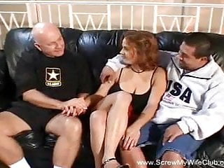 Sex in front of an audience - Amateur swinger redhead milf anal sex in front of husband