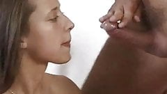 Cute skinny Maria fuck for facial