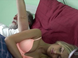 Porn spouse - New morning starts for blonde and her old spouse with sex