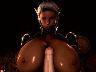 Hentai elf - Tes elf with big tits 3d hentai titjob handjob