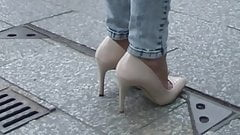 Nude Pumps Stiletto High Heels Tacchi a Spillo Talons Hautes