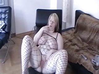 Lycra suit bondage tease milk jerk - German bbw becky sexblonddi teases in a net suit