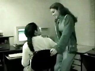 Lesbians office Hidden cam office lesbians
