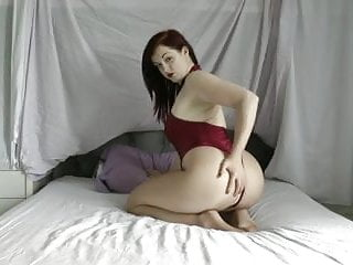 Leotard snap bottom Jaye rose red spandex thong leotard and pantyhose