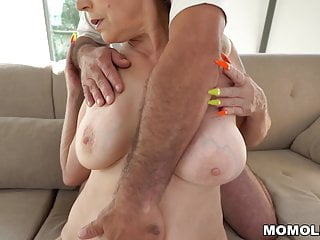 Long gay cock dick Mom with long nails rides a big dick