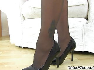 Pantyhose and knickers Uk milf eva may doesnt wear a bra or knickers