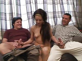 Man with two dicks jerk - Amateur girl fill with two dicks