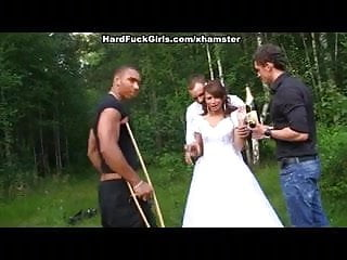 Brides pics nude - The groom the bride fucked hard in the woods