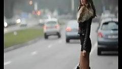 French Hooker in Street BVR