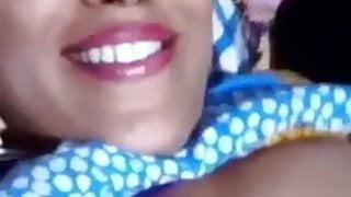 Kirty bhabhi moisturizing big boobs and her hairy big pussy