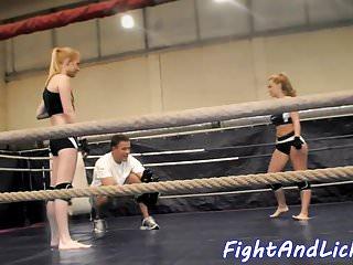 Common ground lesbian scene Eurobabes enjoy wrestling on the ground