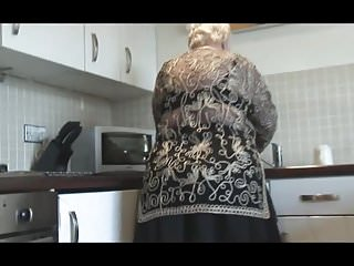 Grandma boobs Sweet grandma shows hairy pussy big ass and her boobs