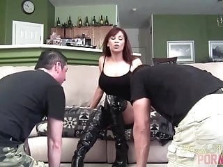 Devon michaels on milf hunter Devon michaels and her muscle slaves