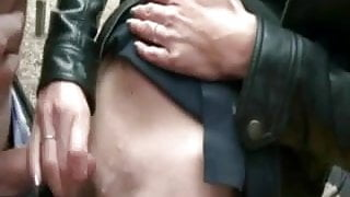 Sophie gangbanged in the wood in stockings