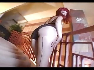 Nude girls halpho glamour - Tiny glamour babe masturbates in nude hosiery