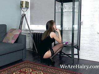 Darling body fashions lingerie Evelina darling masturbates with her glass dildo
