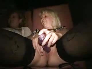 Bondage theatre - Old skanks in a porn store theatre