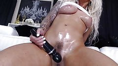 Blonde With Big Tits Squirts Like A Fountain