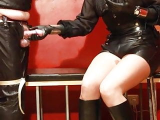 Girls bondage video - Boots, ballbusting and masturbation