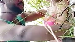 Desi Bengali girl has sex with her bf in the jungle