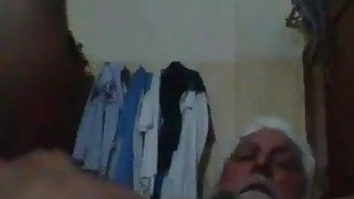 Pakistani daddy grandpa shwoing his jewels