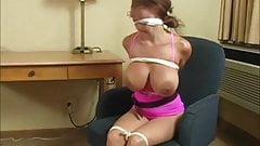 Woman in hotelroom