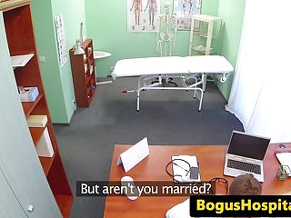 Lesbian nurse with patient - Nurse massaging patients big naturals