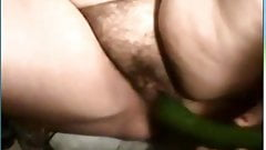 Deaf Grandma 70y on webcam fucks in pussy and ass hole with