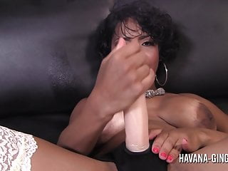 Havana catch strip Havana ginger and maserati fuck with a strapon dildo