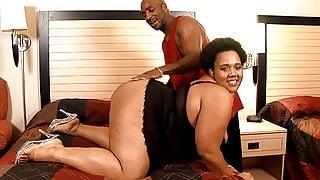 BBW Chunky Ebony Fat Slut Fucked By BBC
