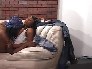 Watch lesbians have sex on videos Horny black lesbians have group sex on couch