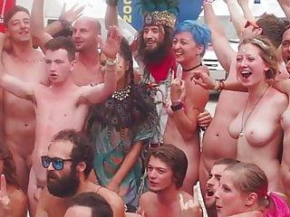 Nude festivities Nude at festival