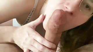 PAWG Nerdy Girl Swallows Huge Cock